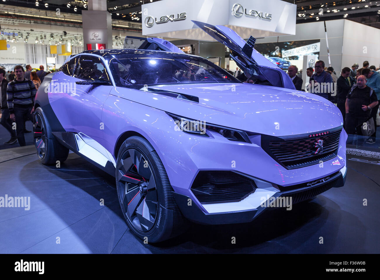 Peugeot QUARTZ Concept Car at the IAA International Motor Show 2015 - Stock Image