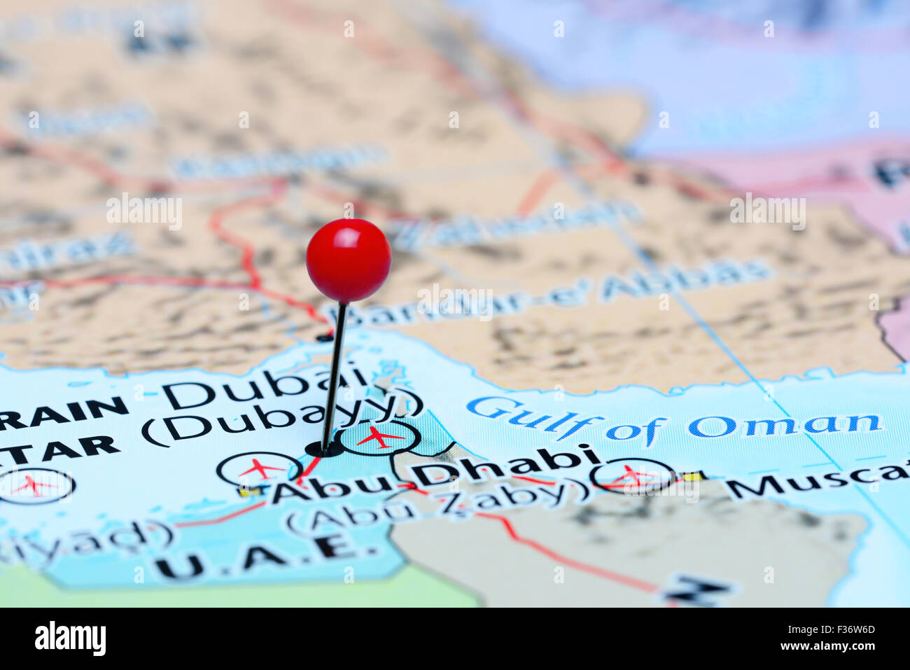 Map Of Asia Dubai.Dubai Pinned On A Map Of Asia Stock Photo 88047301 Alamy