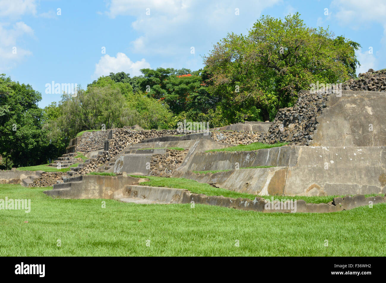 Tazumal archeological site of Maya civilization in El Salvador - Stock Image