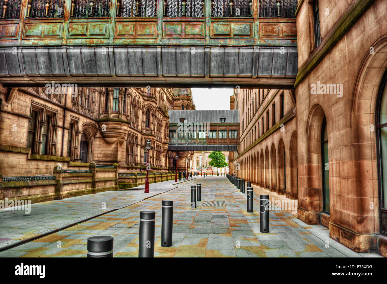 September 2015, passages in Manchester (England), City Council Manchester, HDR-technique - Stock Image
