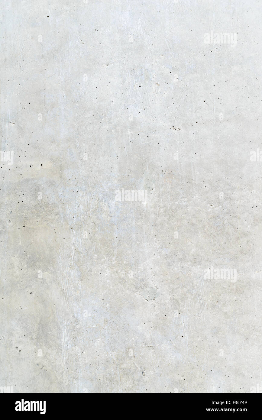 Surface texture of exposed concrete finishing method - Stock Image