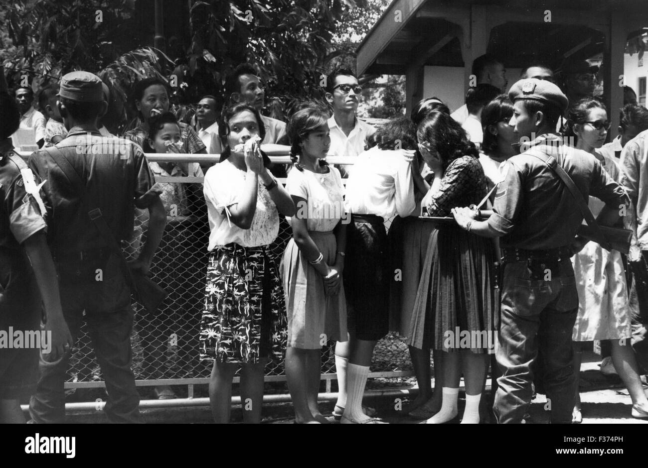 Oct 7 1965 Indonesia Djakarta Young Girls Weep At Home Of