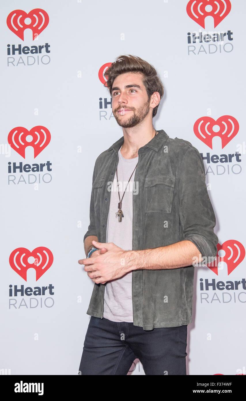 Singer Alvaro Soler attends the 2015 iHeartRadio Music Festival at MGM Grand Garden Arena in Las Vegas Stock Photo