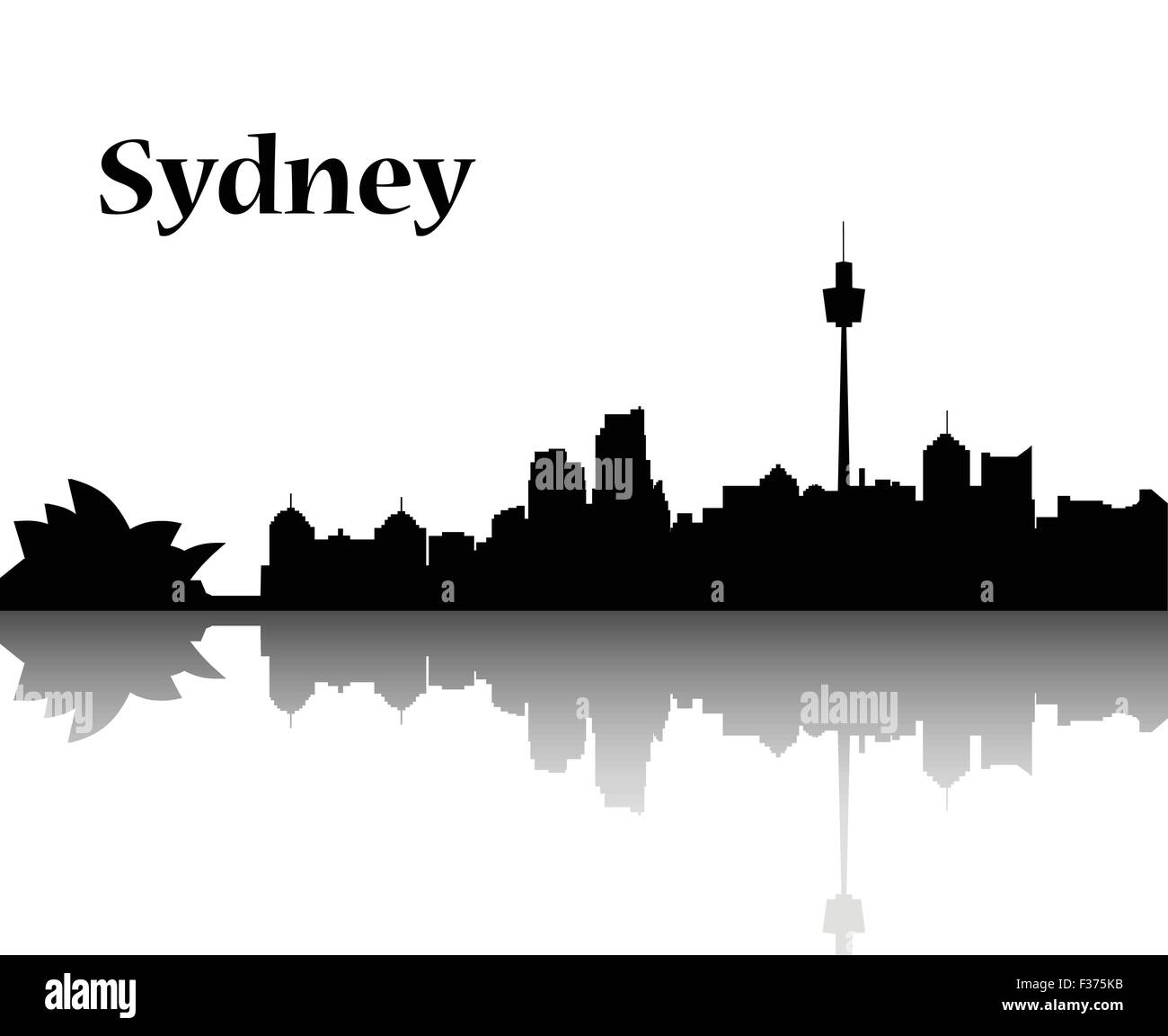 Sydney city skyline - Stock Vector