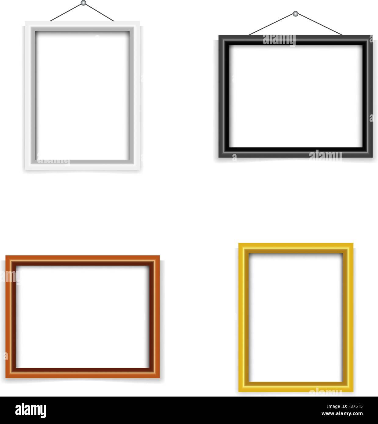 blank photo frame template set Stock Vector Art & Illustration ...