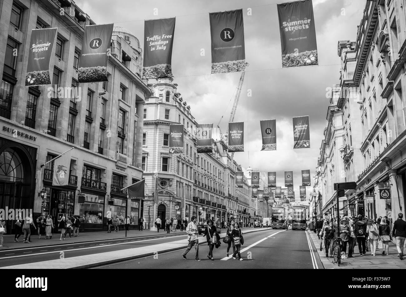 Oxford Street in London - Stock Image