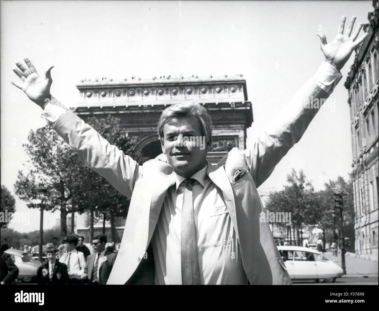 1965 - The Cinema Actor James Ward, Ki3Own As ''Skip'' Has Arrived In Paris To Liaks A Wili.The - Stock Image