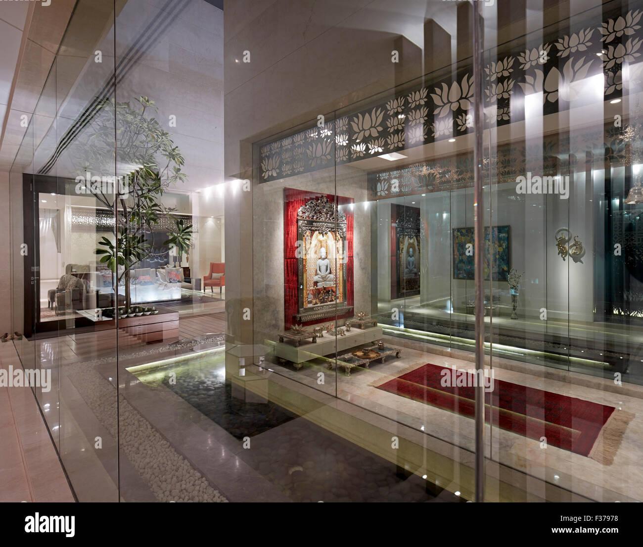 N85 Residence In New Delhi India: Interior View In Shrine Area. House 4, New Delhi, Delhi