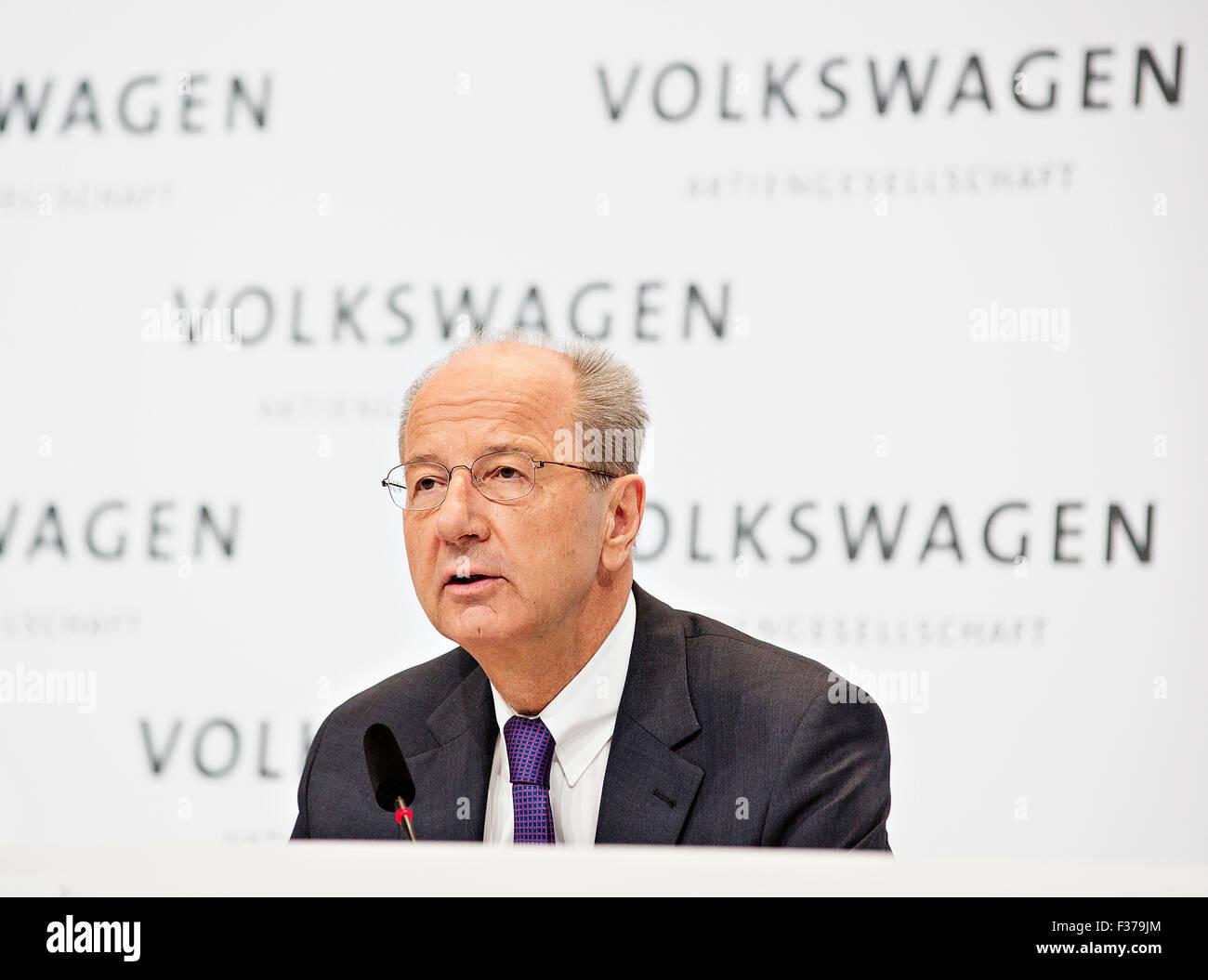 Hans Dieter Poetsch, VW, Volkswagen - Stock Image