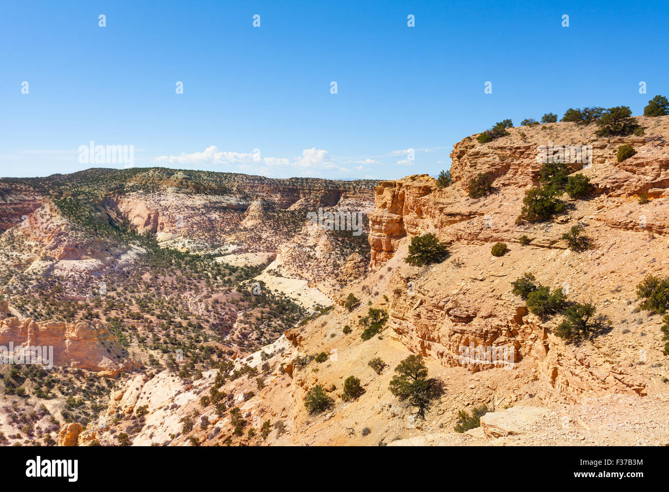 Stoned hills in Devil's Canyon Emery County - Stock Image