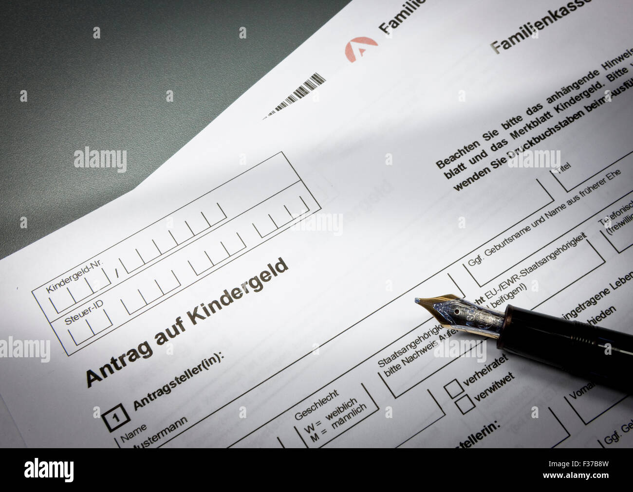 German application form for child support, Germany Stock Photo