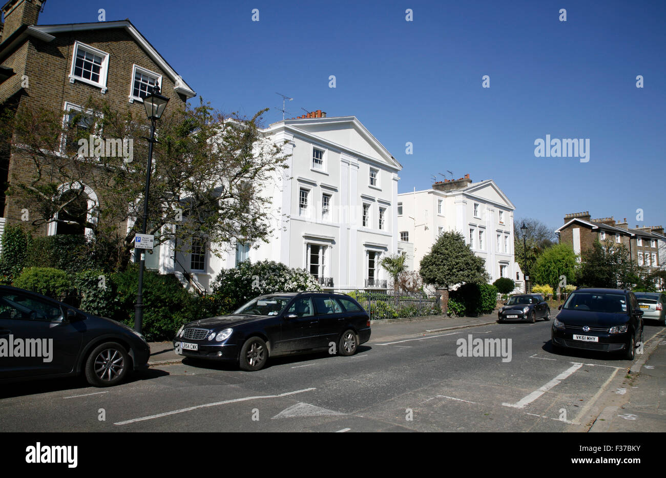 Stockwell Park Crescent, Stockwell, London, UK - Stock Image