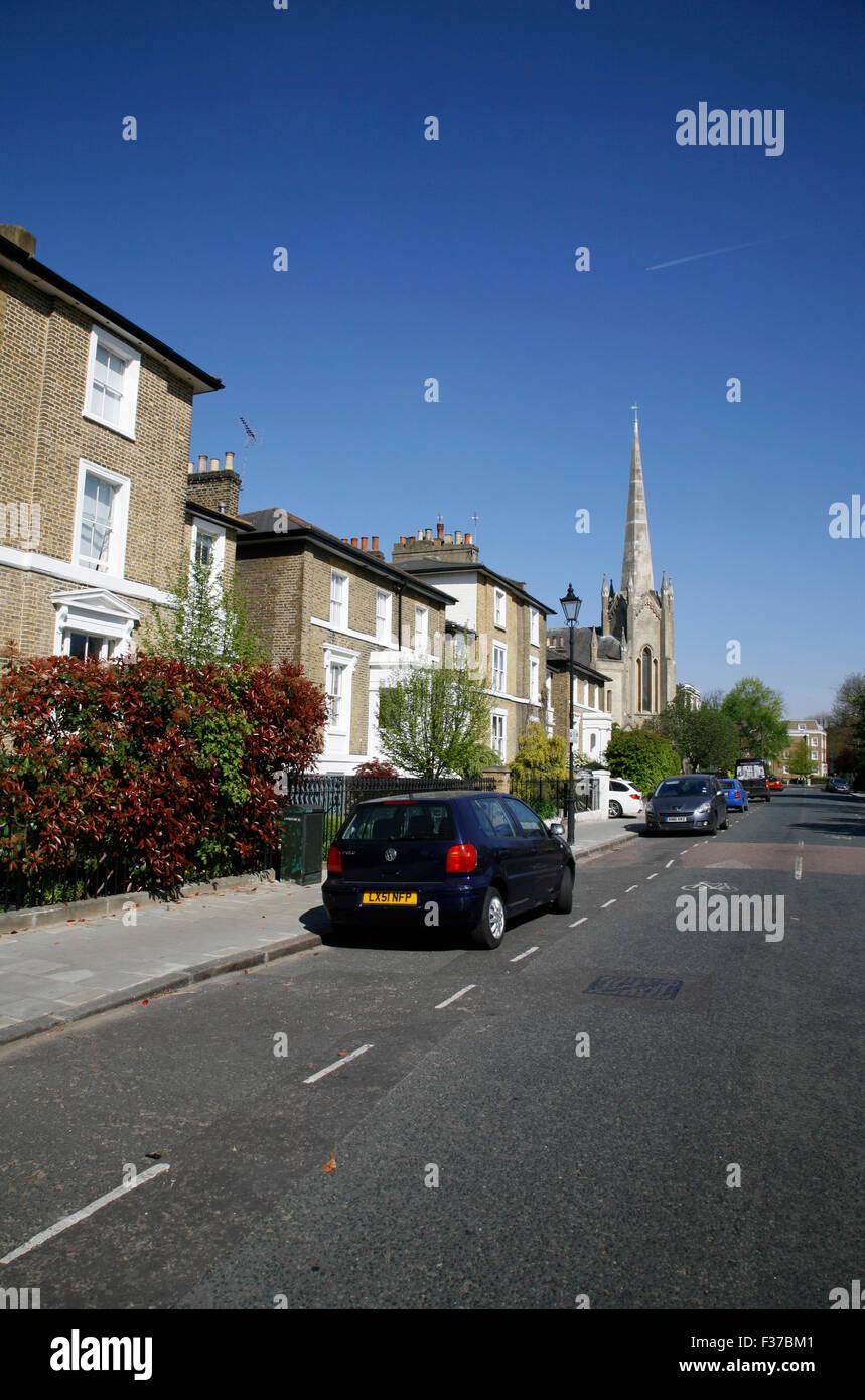 Stockwell Park Road, Stockwell, London, UK - Stock Image