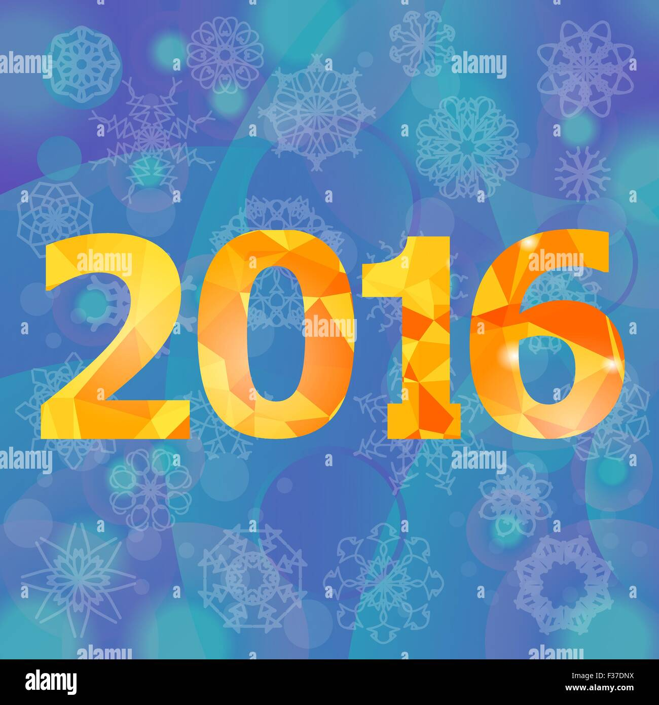Polygonal New Year Numbers Stock Vector