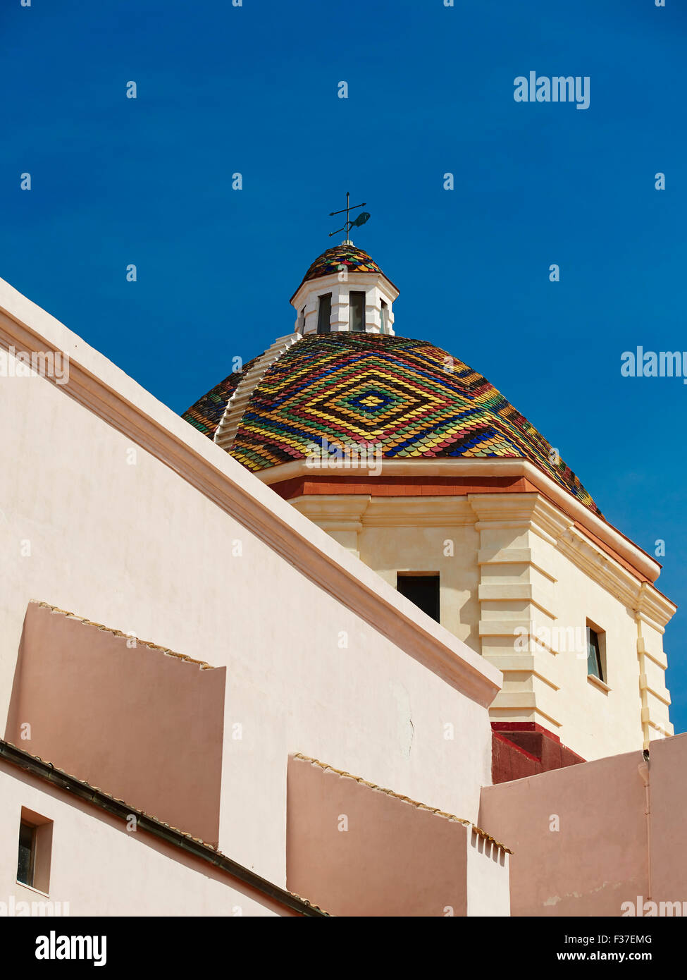 Church of San Michele, Alghero, Sardinia Stock Photo