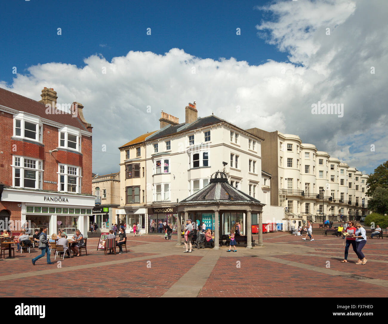 Montague Place Worthing. - Stock Image
