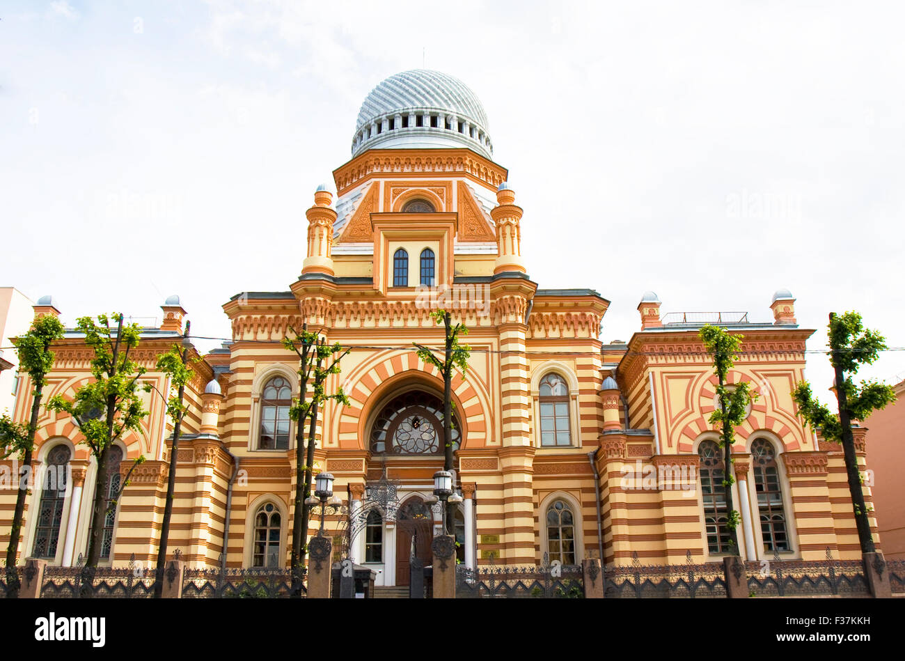 St. Petersburg, Russia - July 14, 2012: Big synagogue. - Stock Image