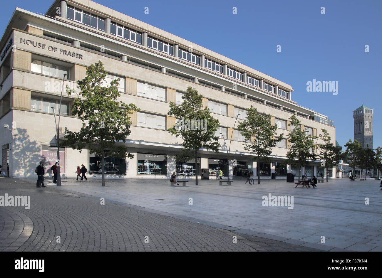 house of fraser in plymouth city centre - Stock Image