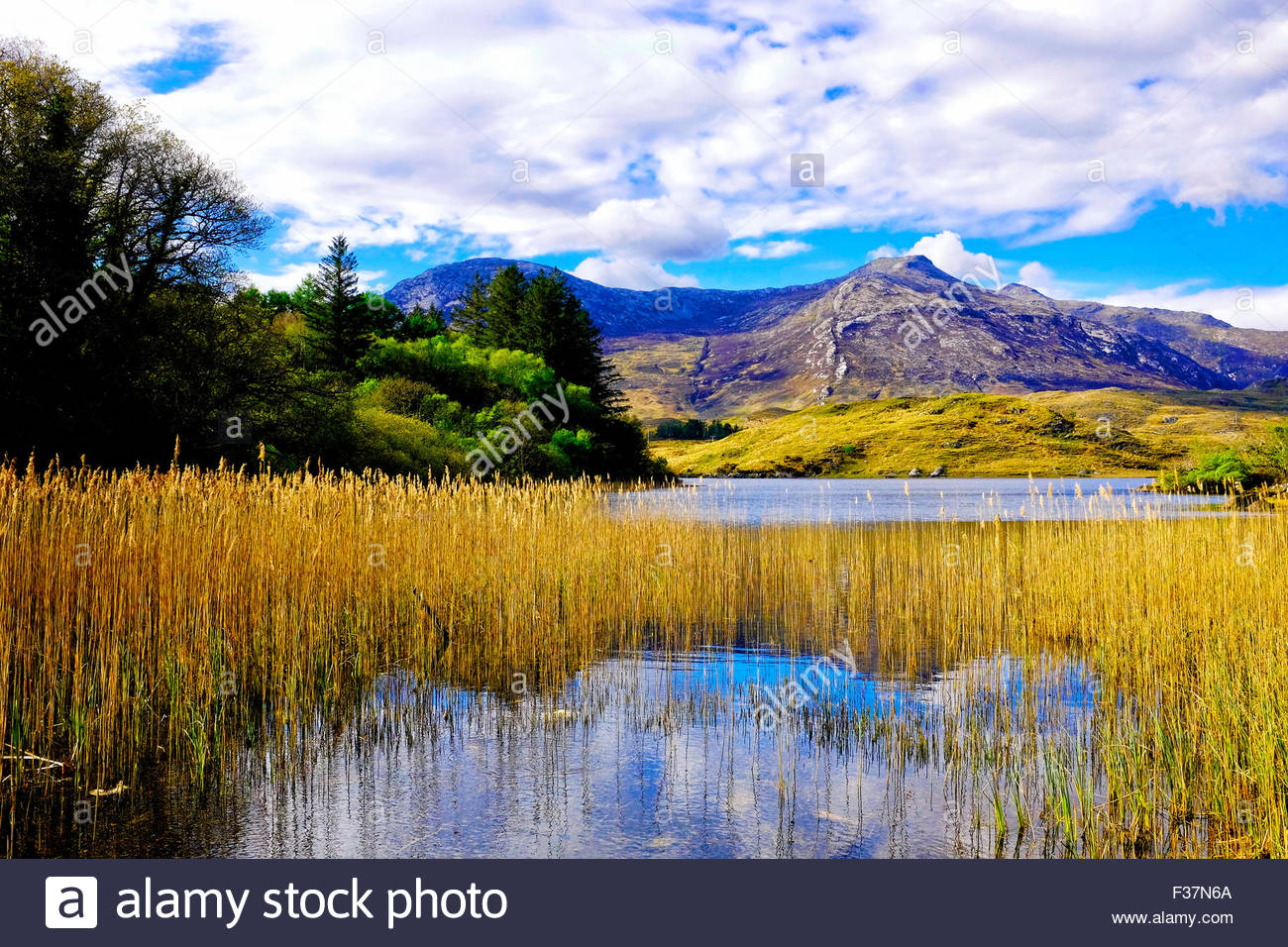 A view of Derryclare Lough, Connemara, Ireland - Stock Image