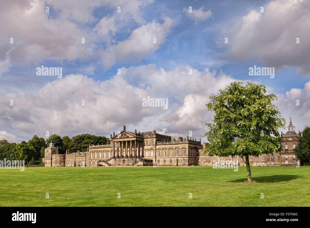 Wentworth Woodhouse, ancestral home of the Fitzwilliam family, near Rotherham in South Yorkshire, England Stock Photo