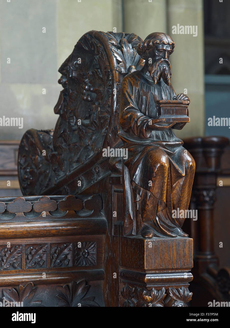 Lichfield Cathedral, choir stalls - Stock Image