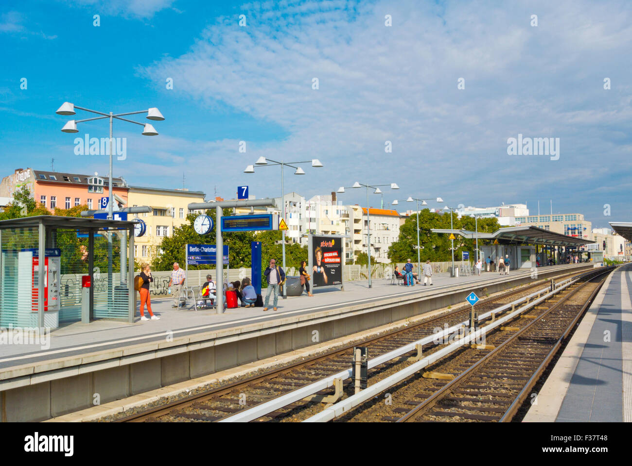 Charlotenburg S-Bahn station, west Berlin, Germany Stock Photo
