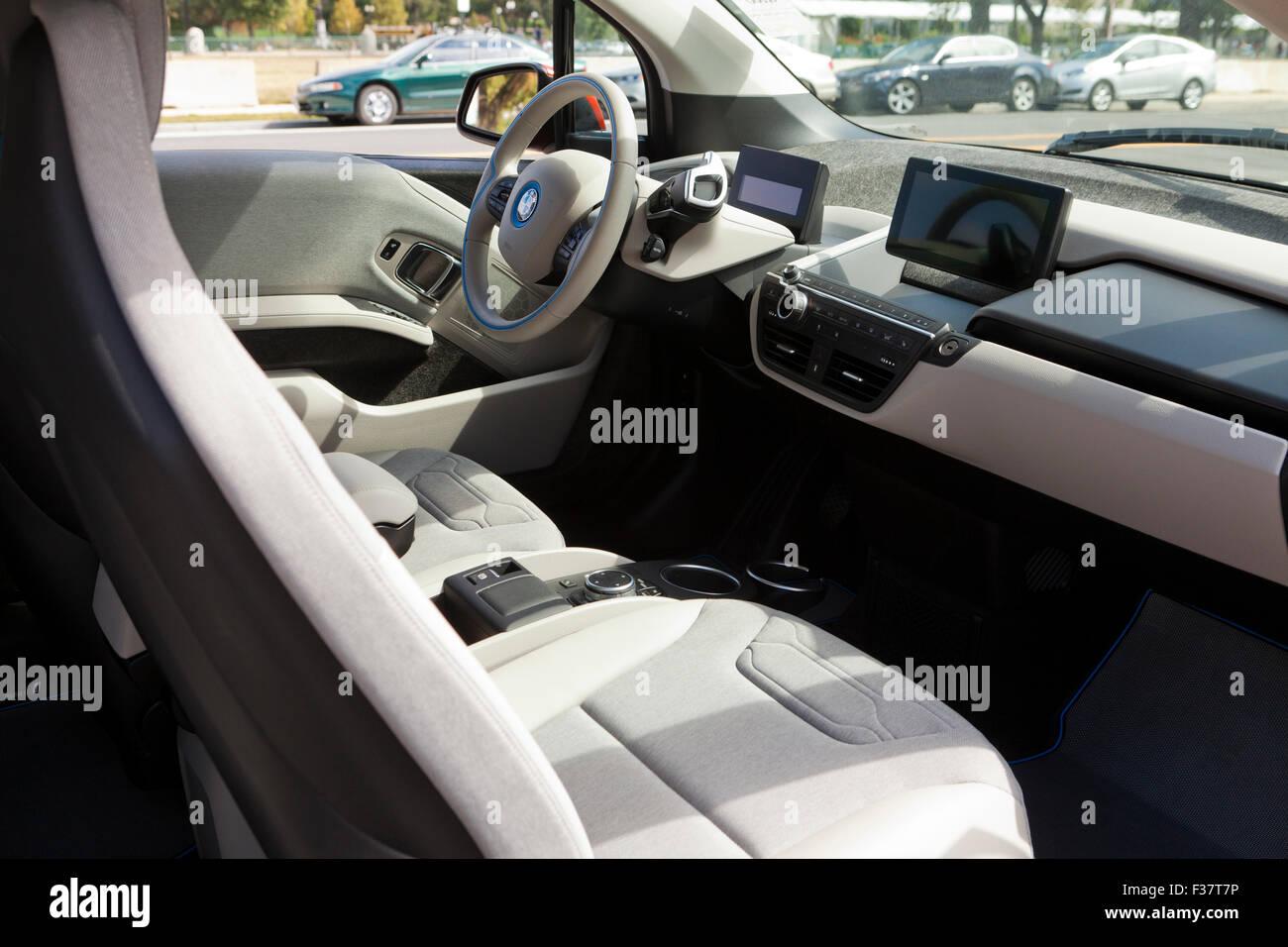 Bmw I3 Electric Car Interior Usa Stock Photo 88068506 Alamy