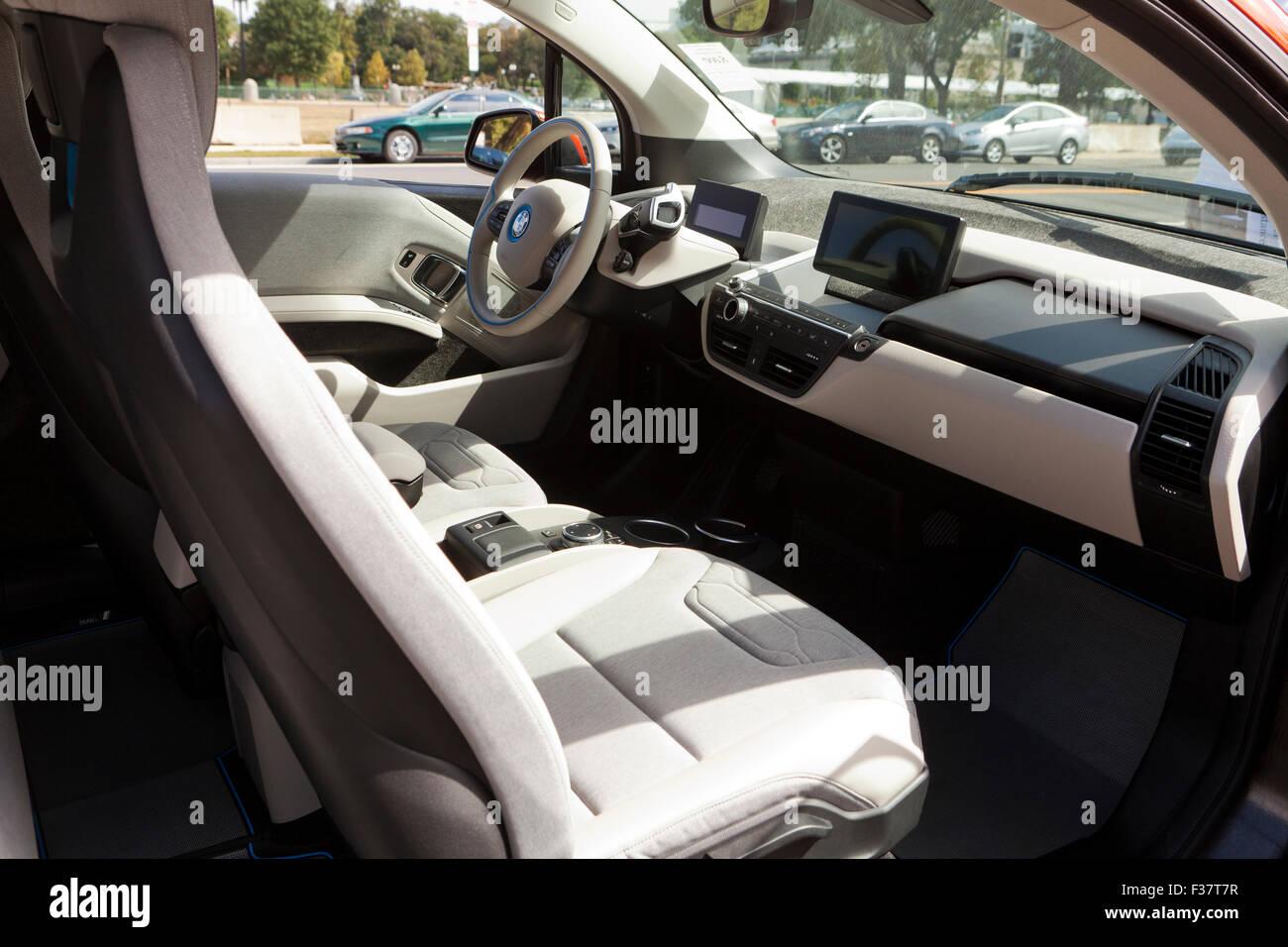 Bmw I3 Electric Car Interior Usa Stock Photo 88068507 Alamy