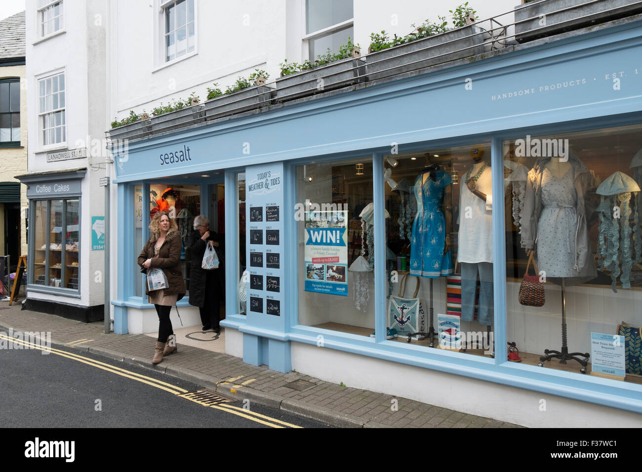 Seasalt clothes shop Padstow Cornwall UK. - Stock Image