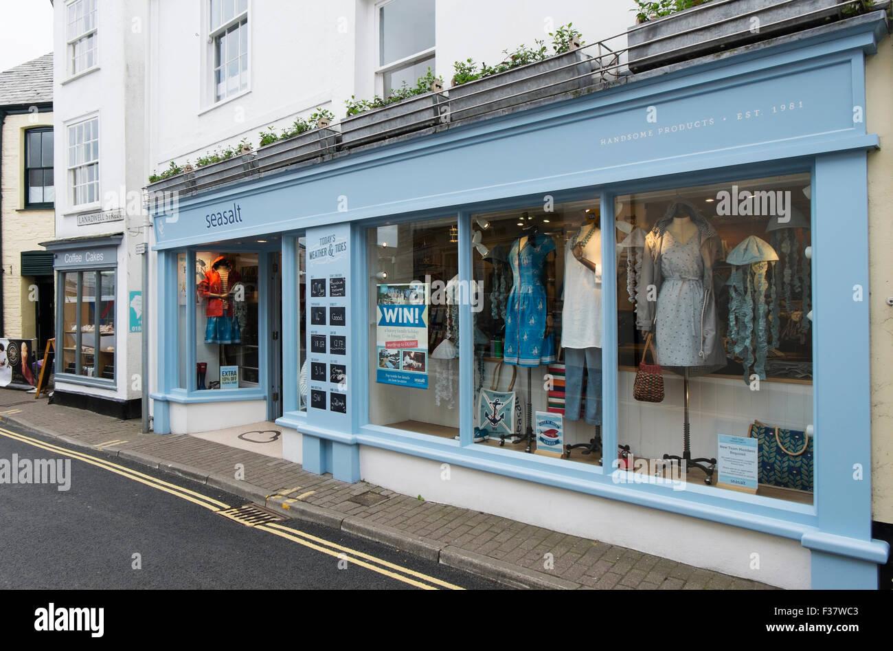 Seasalt clothes shop Padstow Cornwall UK. Stock Photo
