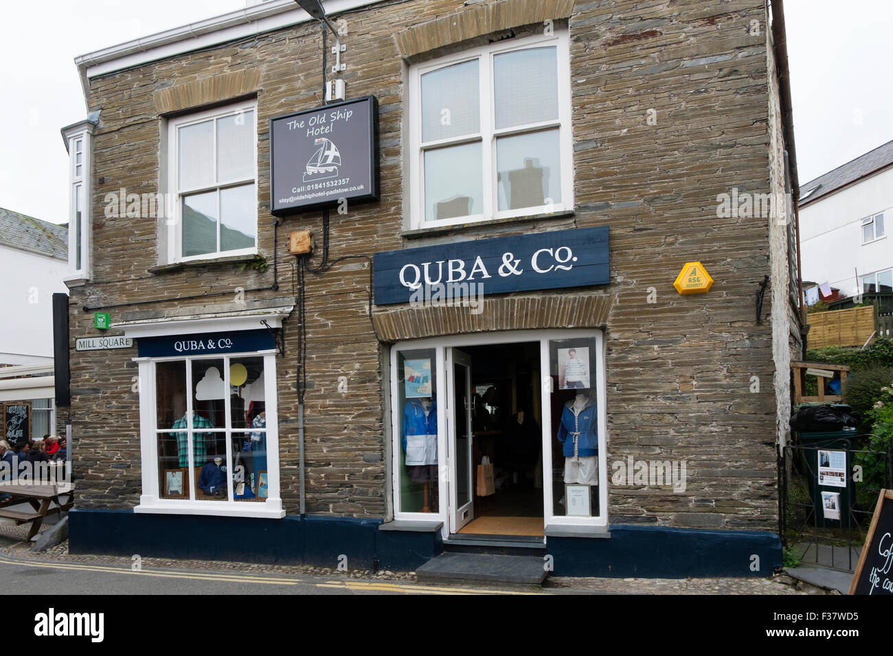 Quba and Co. clothes shop Padstow Cornwall UK. - Stock Image