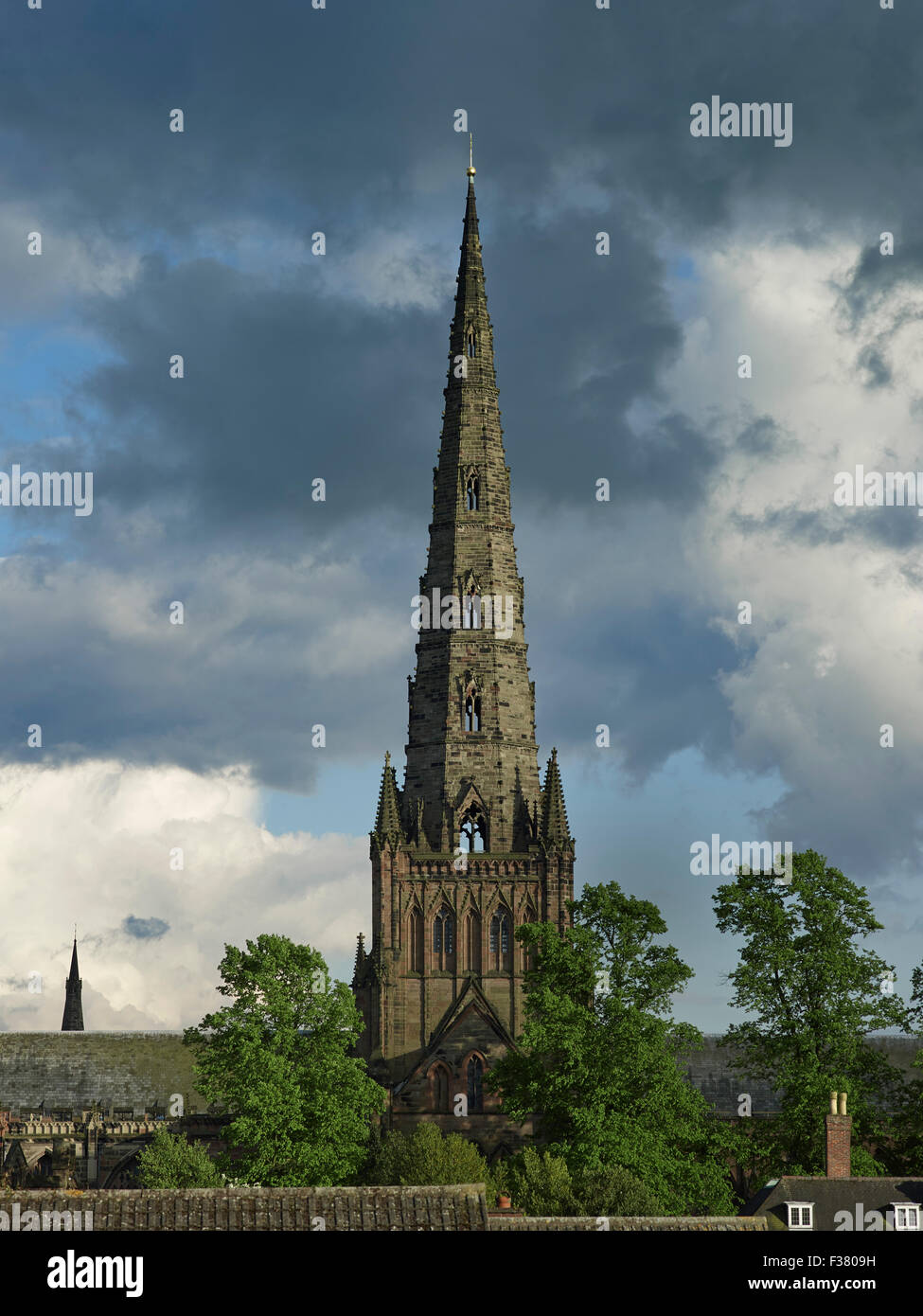 Lichfield Cathedral Great Spire - Stock Image