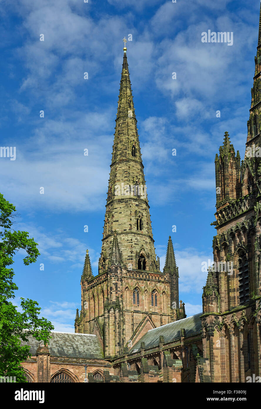Lichfield Cathedral, Great Spire - Stock Image