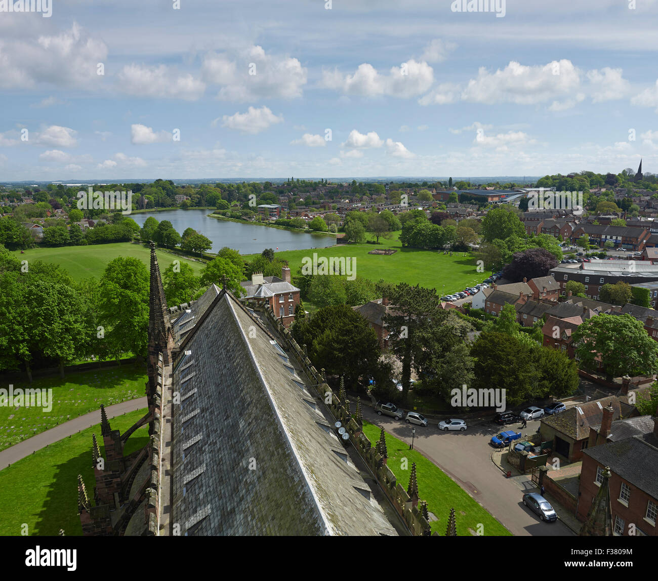Lichfield Cathedral roof looking east - Stock Image