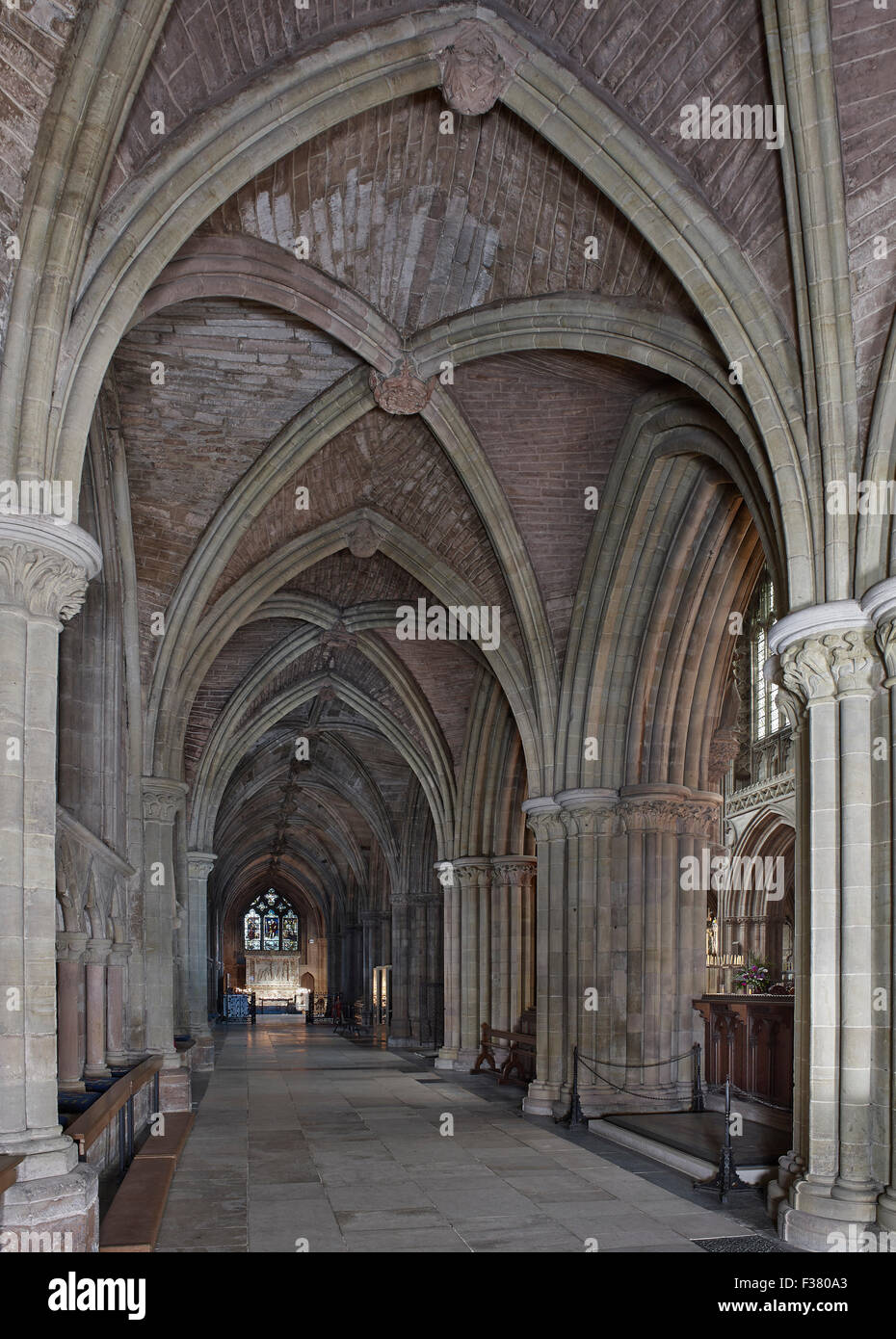 Lichfield Cathedral, north choir aisle - Stock Image