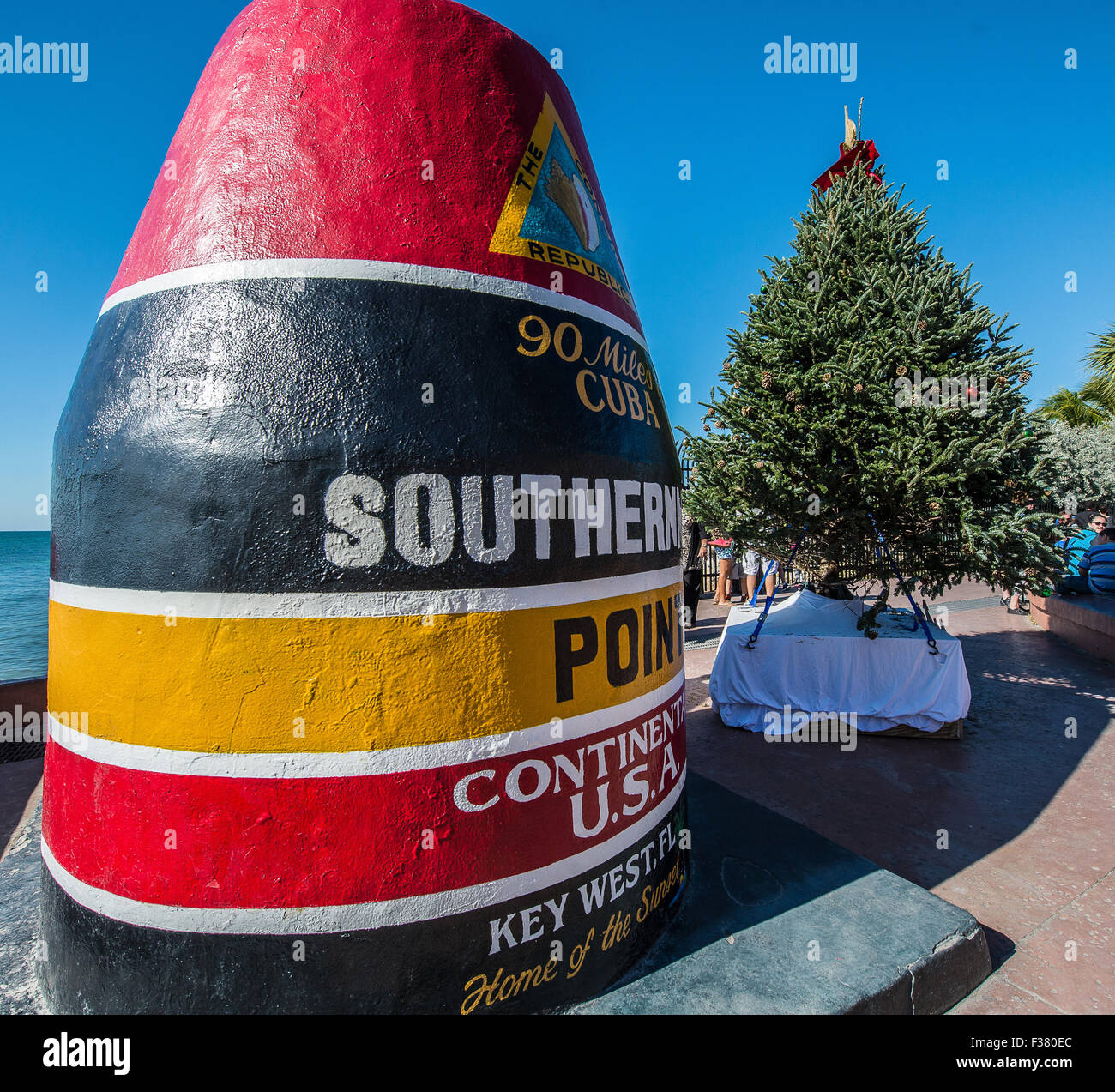 Key West Christmas time at Southernmost Point Stock Photo: 88071828 ...