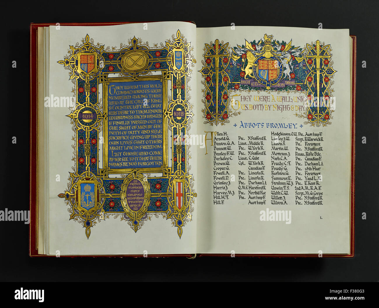 Lichfield Cathedral, Book of Remembrance - Stock Image
