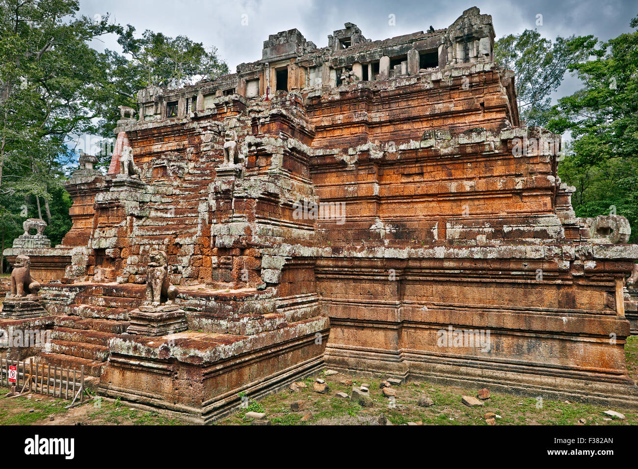 Phimeanakas temple. Angkor Archaeological Park, Siem Reap Province, Cambodia. - Stock Image