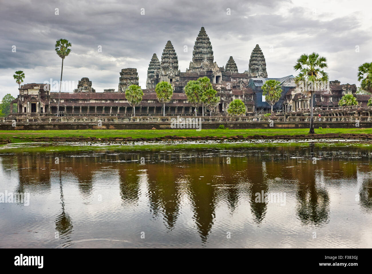 Angkor Wat temple. Angkor Archaeological Park, Siem Reap Province, Cambodia. - Stock Image