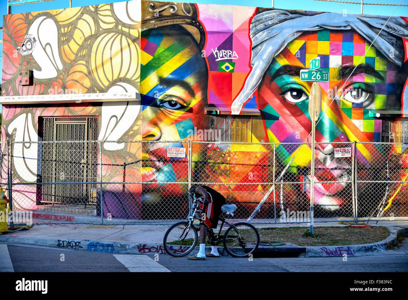 Miami Wynwood Wall Painting Stock Photos Miami Wynwood Wall - Painting miami