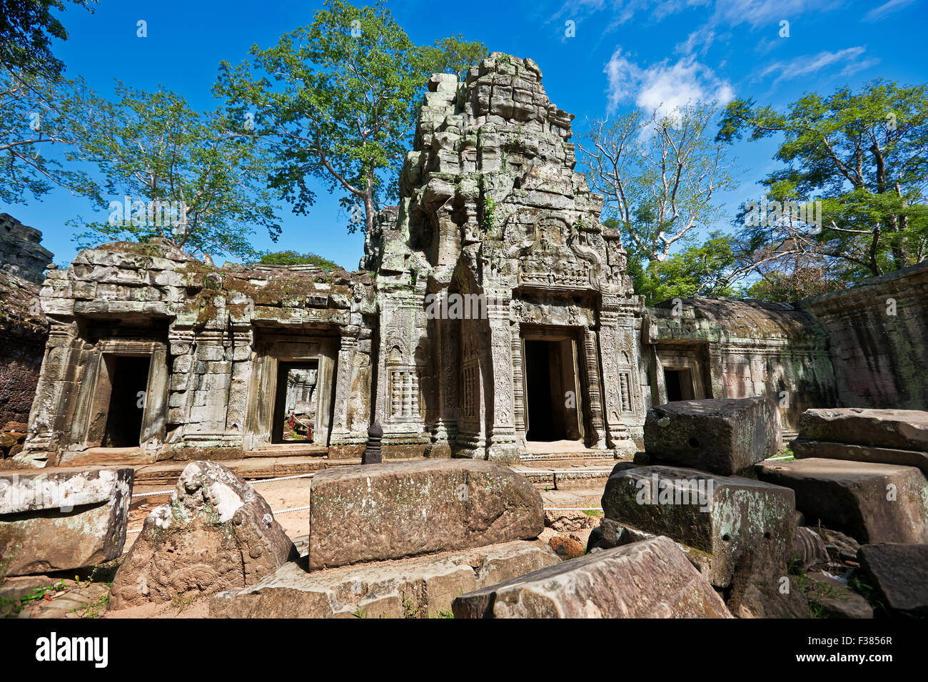 Ruins of Ta Prohm temple. Angkor Archaeological Park, Siem Reap Province, Cambodia. - Stock Image