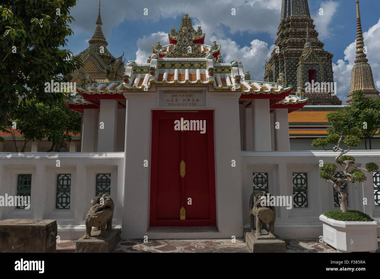 Wat Po Temple, Bangkok, Thailand - Stock Image