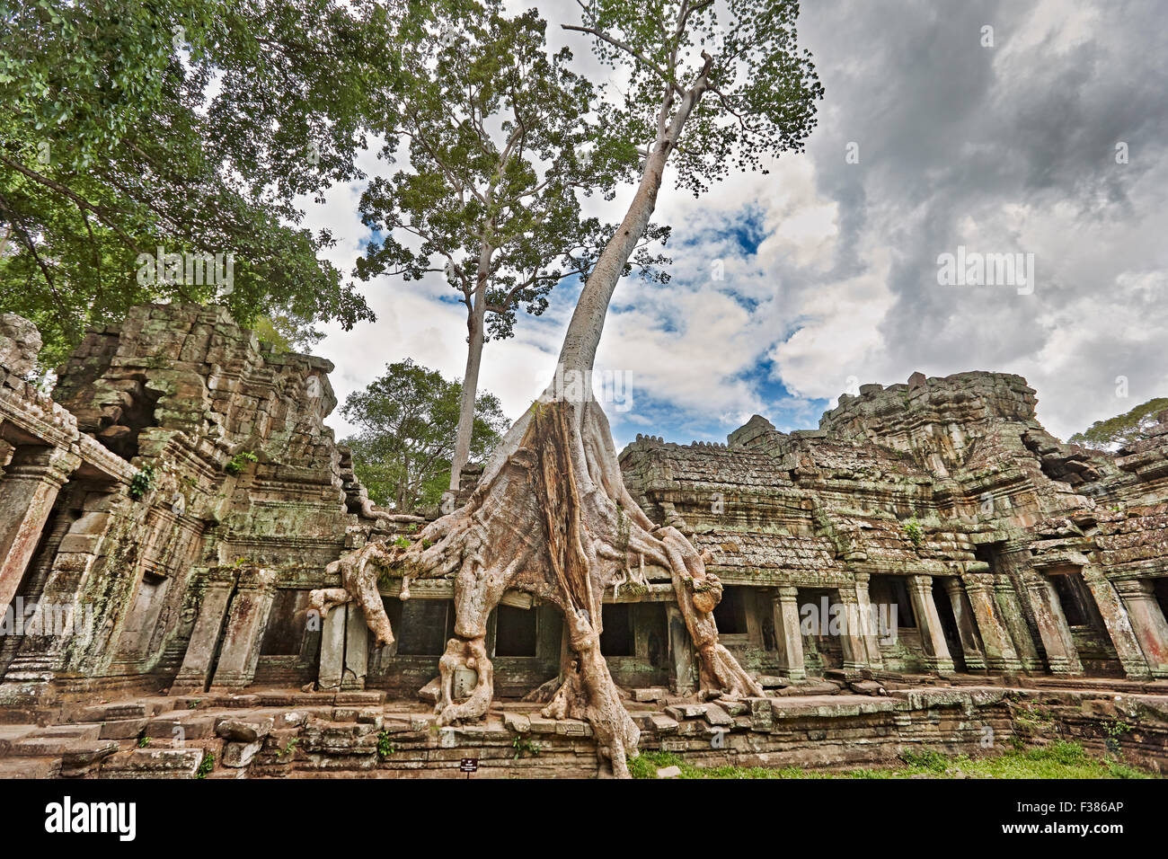 Preah Khan temple. Angkor Archaeological Park, Siem Reap Province, Cambodia. - Stock Image