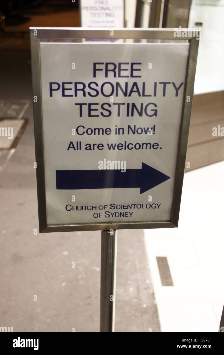 Scientology Free Personality Test - Stock Image