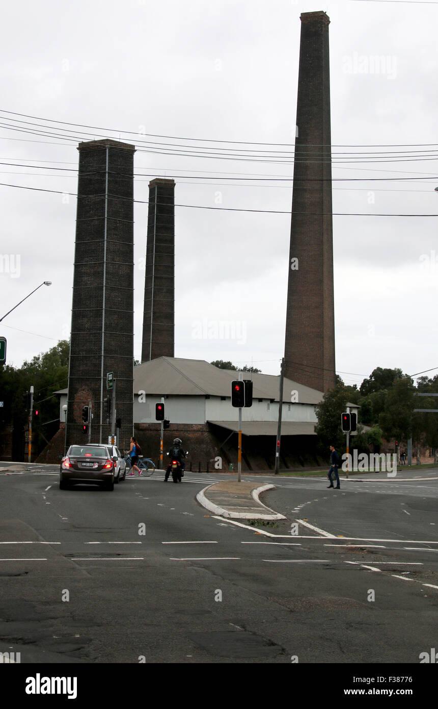 Park A&R Chimney Sydney Australia - Stock Image