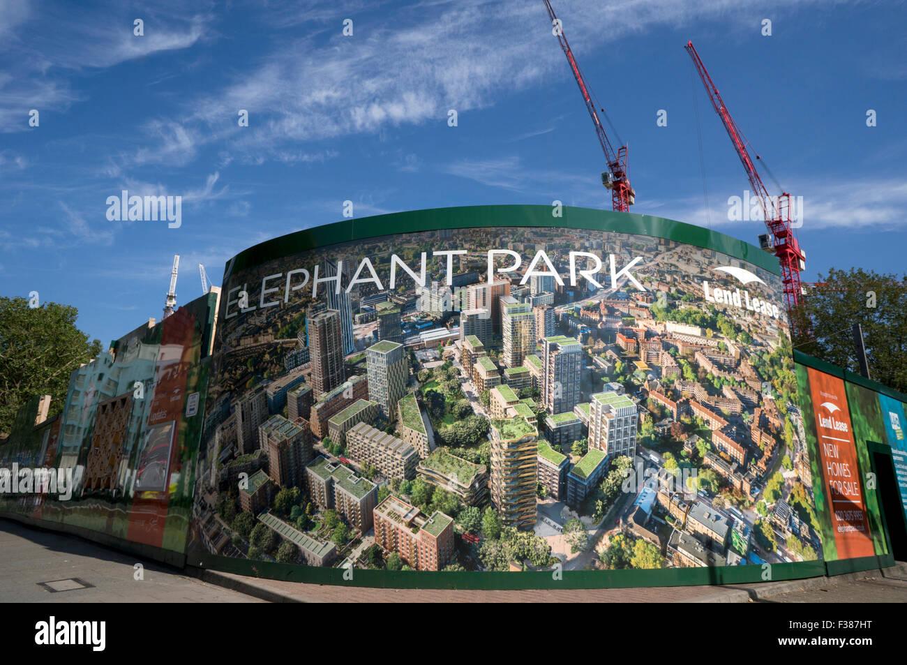 Elephant Park redevelopment - Stock Image