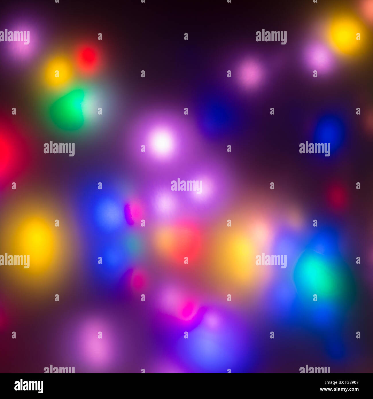 Bright neon lights background - multicoloured - Stock Image