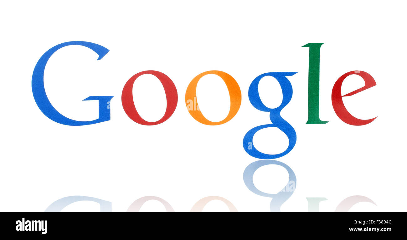 KIEV, UKRAINE - FEBRUARY 19, 2015:Google logotype printed on paper - Stock Image