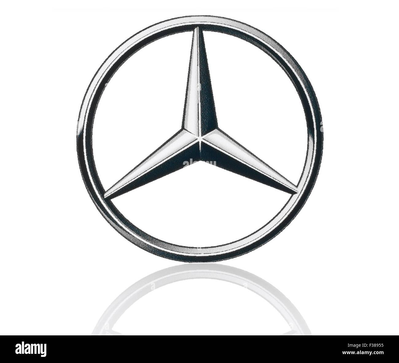 Kiev Ukraine March 21 2015 Mercedes Benz Logo Printed On Paper