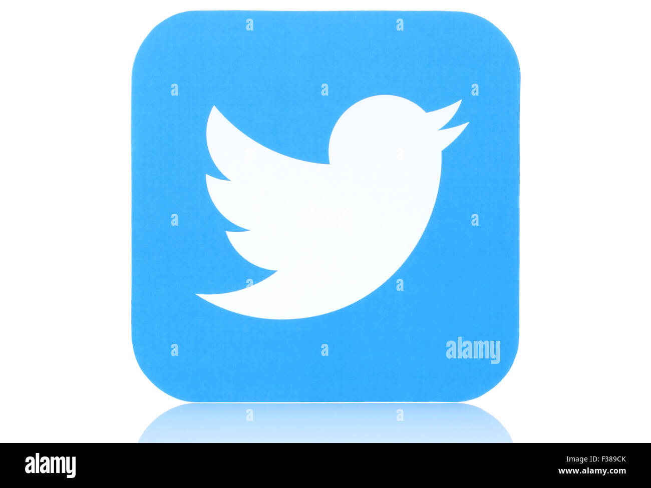 KIEV, UKRAINE - MAY 07, 2015:Twitter logotype printed on paper. - Stock Image